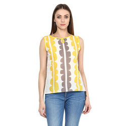 Womens Cotton Sleeveless Top