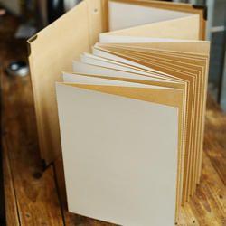 Accordion Photo Album In Bark Paper