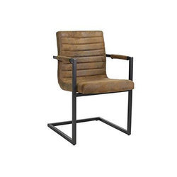 Pranshi Handicrafts Leather Dining Chair, For Home