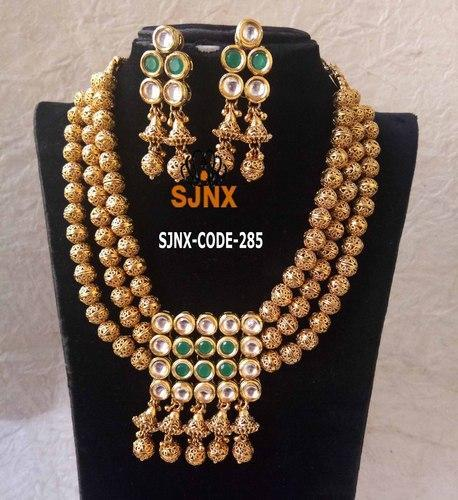 ac134982e86 Gold Plated Designer Necklace set Bridal Necklace Set at Rs 1800 ...