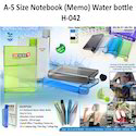 A-5 Size Notebook Memo Water Bottle H-042