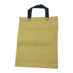 Plain Cloth Loop Handle Carry Bag, Size: 35 cm X 48 cm