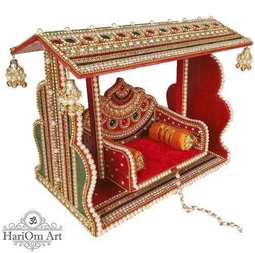 Swing Krishna Swing Jhoola On Wooden Base Lakdi Ke Jhoole