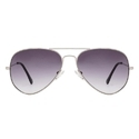 Silver Gradient Grey Aviator Sunglasses, Size: Medium