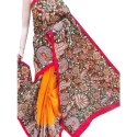 Party Wear Ladies Hand Printed Cotton Saree, 5.5 M (separate Blouse Piece), With Blouse Piece