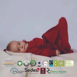 Organic baby wearable sleeping bag