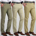 Cream Cotton Trousers