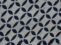 Geometric Indigo Blue Cotton Hand Block Print Fabric
