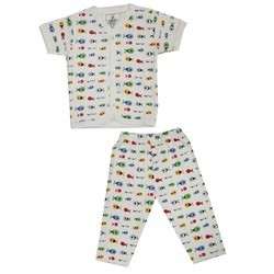 Cotton Printed Kids Night Suit