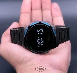 Men Round Fossil Digital Watches