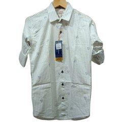 Cotton White Binnani Mens Designer Shirt