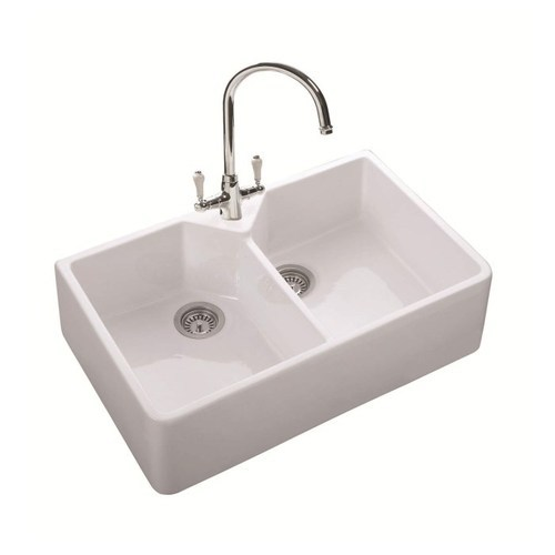 SRV Cream Ceramic Sink, SRV Steel | ID: 19282374397