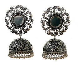 Dual Tone Oxidized Earrings