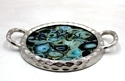 Glass, Metal Rough Nickel Aluminium Tray With Glass, Size: 37.50 X 29 X 4.50 Cm