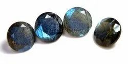 Labradorite Faceted Round Cut Gemstone