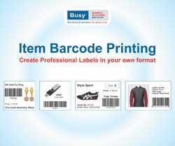 Barcode Software with BUSY Standard Edition