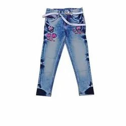 Anywhere Stretchable Girls Kids Jeans
