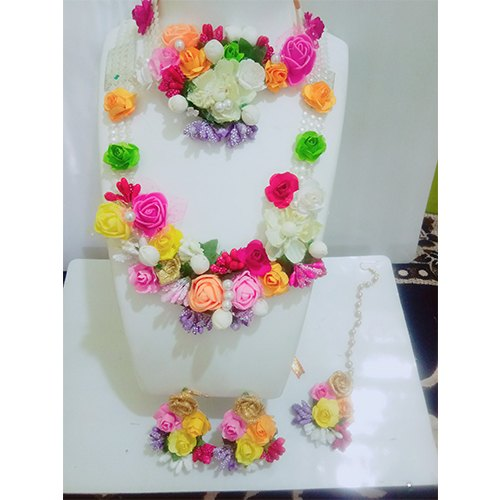 Usha Bentex Multicolor Artificial Flower Jewelry