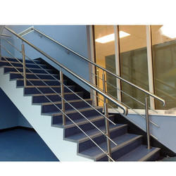 Silver Stainless Steel Staircase Railing, Height: 2 - 3 Feet