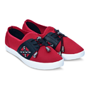 Red Black Casual Slip On Shoes