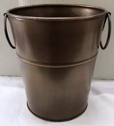 Galvanized Round Copper Antique Wine Cooler Champagne Bucket