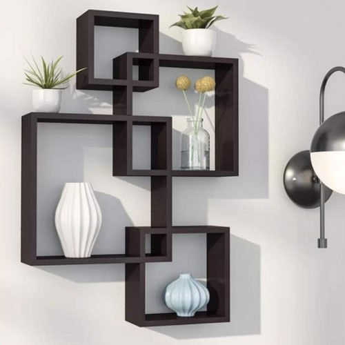 Brown Living Room Wall Shelf Rack Rs 3700 Piece Nutech Impex Id 20715351073