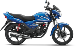 Blue HONDA CB SHINE BS6