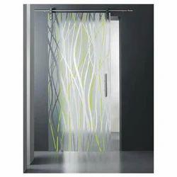 Transparent Toughened Sliding Glass Door