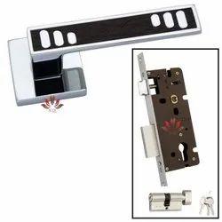 Kin Overseas Zinc Rose Door Handle Lock, Stainless Steel
