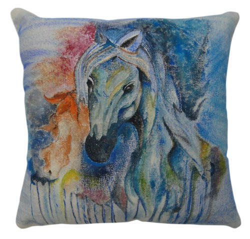 """100/% Cotton Digital Printed Cushion Covers Modern Style piped Edge Size 16/"""" 18/"""""""
