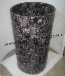Amethyst Stone Pedestal Wash Basin