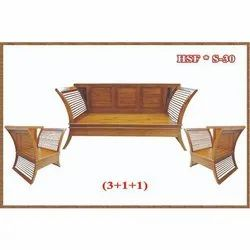 Home Style Furniture Brown Wooden Sofa Set