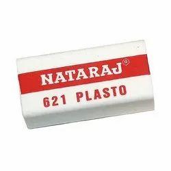 White Nataraj Rubber Eraser