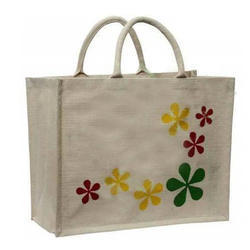 Step Flower Jute Bag