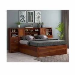 Modern Brown Solid Wood king size Bed, Warranty: 1 Year, Size: 7x6 Feet