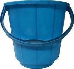 Blue Plastic Handle Bucket