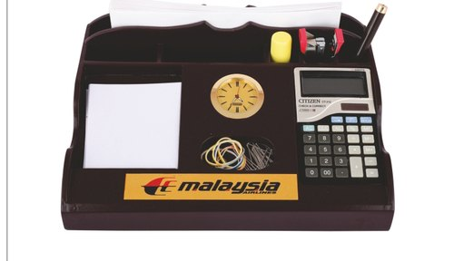 Pen Stand With Calculator, Watch & Paper Pad