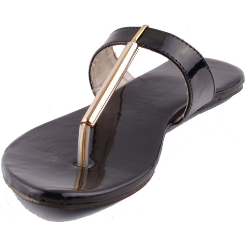 86994ef61a4f Party Wear Foot Wagon Ladies Glossy Leather Slippers