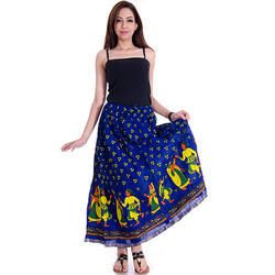 Casual Cotton Jaipuri Printed Skirt