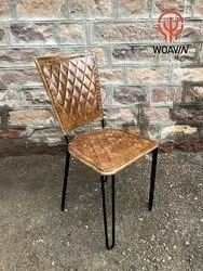 Industrial & Vintage, Living Room, Indoor, Fashionable, Leather Retro Polo Chair