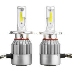 35 W Metallic Aluminum White H4-c6 LED Headlight Bulb