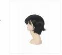Black Soft And Shiny Synthetic Bob Cut Full Head Men Wig