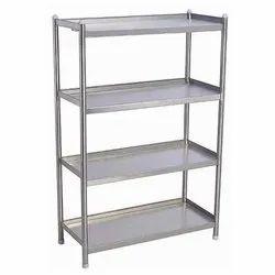 Stainless Steel Matt Polished 4 Shelves Storage Rack