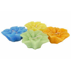 Designer Flower Wax Candles