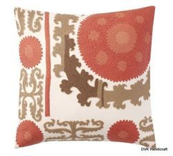 Suzani Embroidered Crewel Cushion Cover