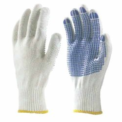 Seamless Knitted PVC Dotted Gloves