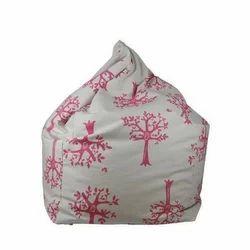 Organic Cotton Printed Bean Bag, Size: L