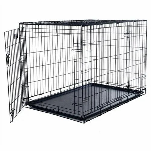 Glorious Black Mild Steel Dog Cage for Home Purpose Use