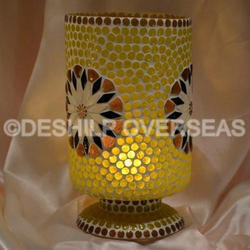 Yellow Mosaic Candle Holder