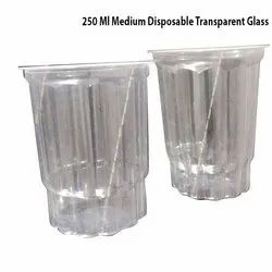 250 Ml Medium Disposable Transparent Glass